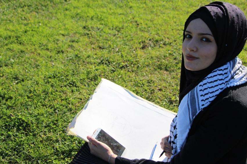 Filistinli genç kızın Erdoğan sevgisi