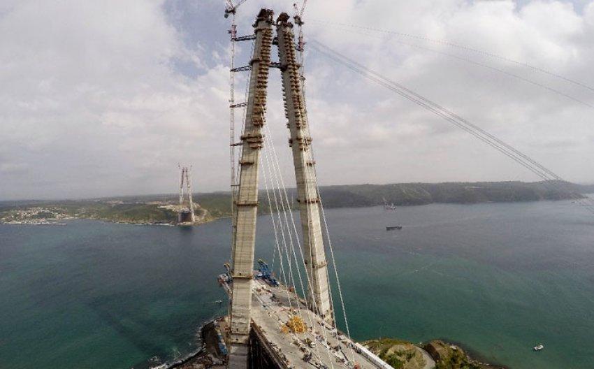 3. köprü 304,5 metreye kadar yükseldi