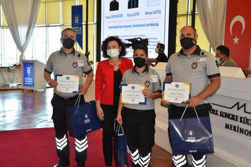 Bursa Büyükşehir'de başarılı personeller ödüllendiriliyor