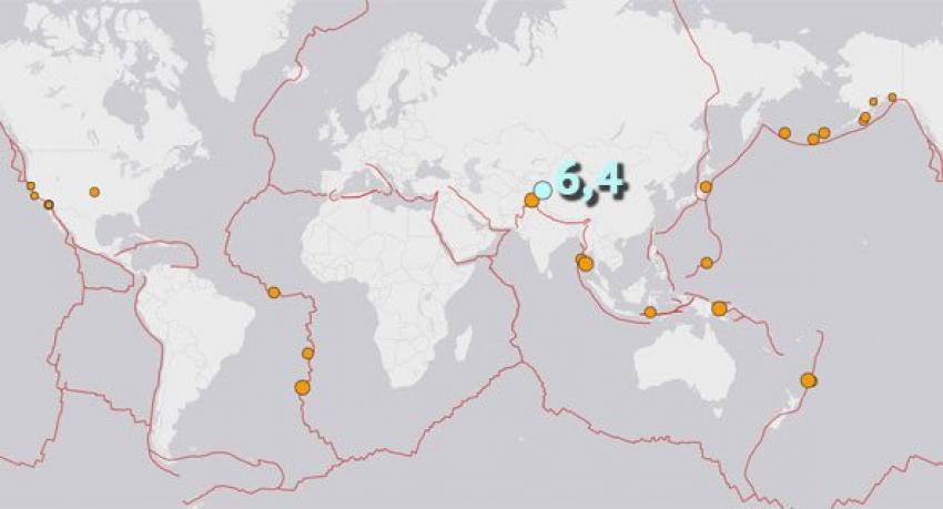 Şincan'da korkutan deprem