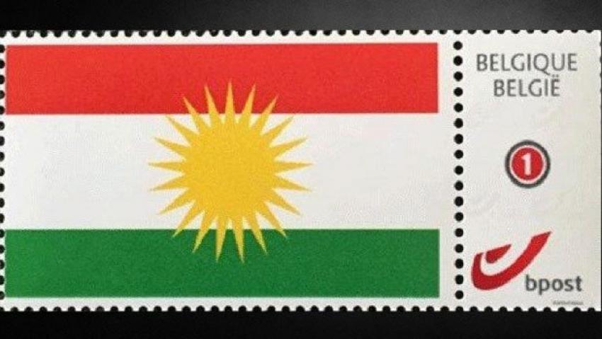 Posta pulunda Kürdistan bayrağı