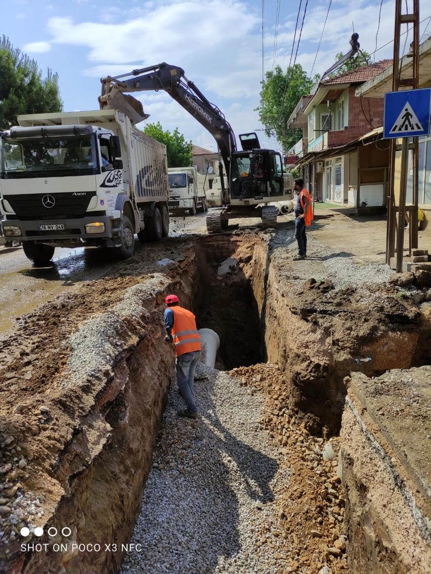 İznik Çakırca'da altyapı yenileniyor