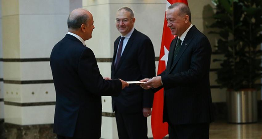 Erdoğan, Arnavutluk Büyükelçisini kabul etti