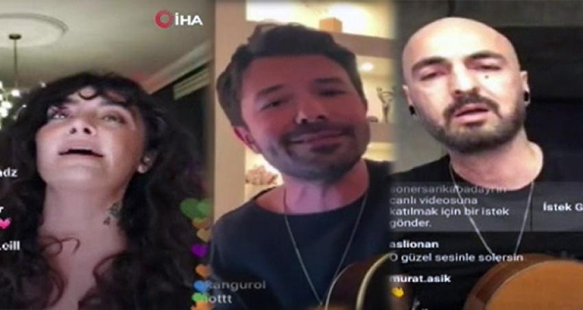 'Evde Kal' çağrısına sanatçılardan konserli destek