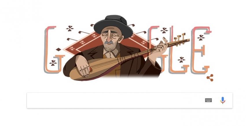 Google, Aşık Veysel'e özel doodle yaptı