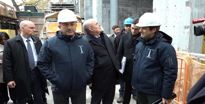 Çavuşoğlu Türkevi binasının inşaatını ziyaret etti