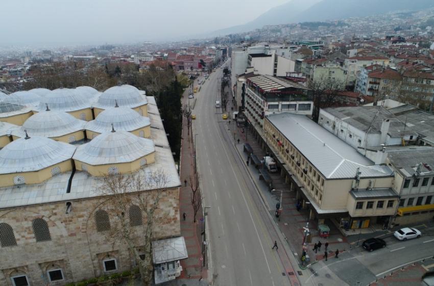 Bursa'da korona sessizliği!