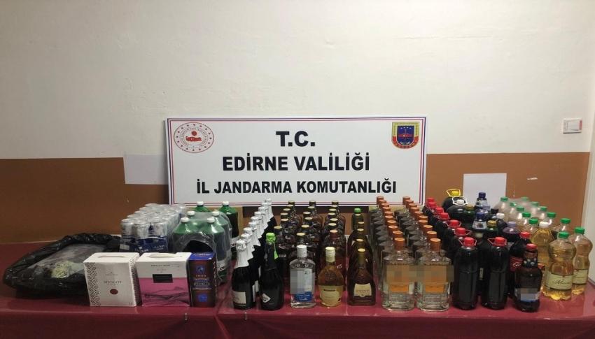 155 litre kaçak alkol ele geçirildi