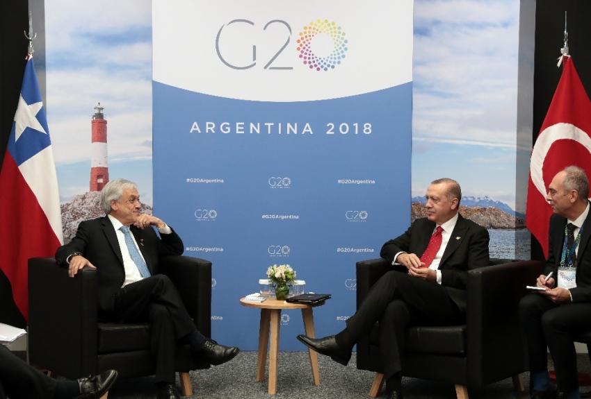 Cumhurbaşkanı Erdoğan, Şili Devlet Başkanı ile görüştü
