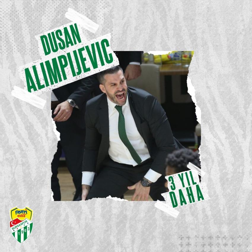 Dusan Alimpijevic 3 yıl daha Frutti Extra Bursaspor'da!
