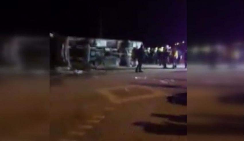 Ankaragücü taraftarları taşıyan otobüs kaza yaptı: 2 ölü, 23 yaralı