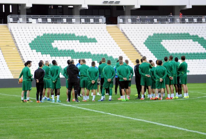 Bursaspor ilk kez Timsah Arena'da çalıştı