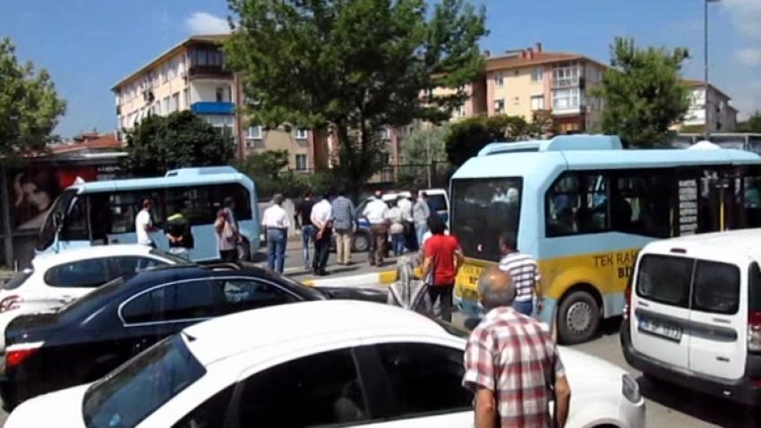 Minibüsçüler polise saldırdı!