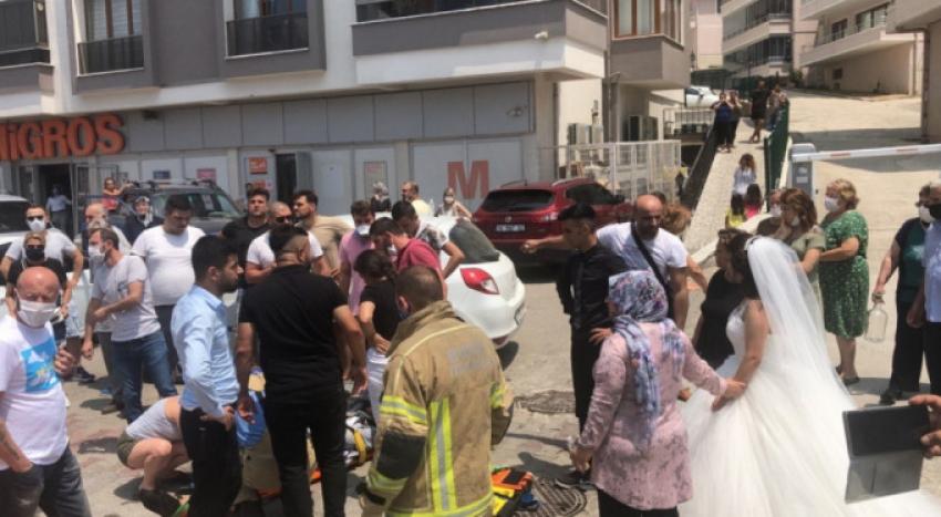 Bursa'da düğün konvoyu kaza yaptı