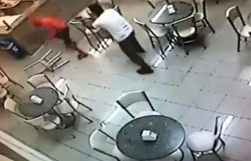 Sivil polis soyguncuyu böyle vurdu