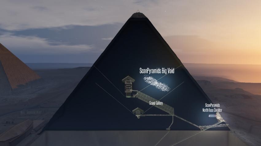 Büyük Giza Piramidi'nde gizemli keşif