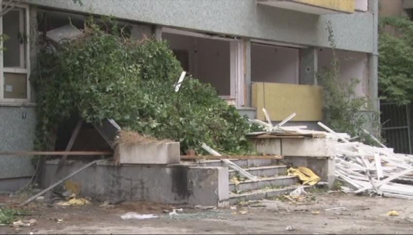 Ankara'da bina yıkımında göçük: 1 yaralı