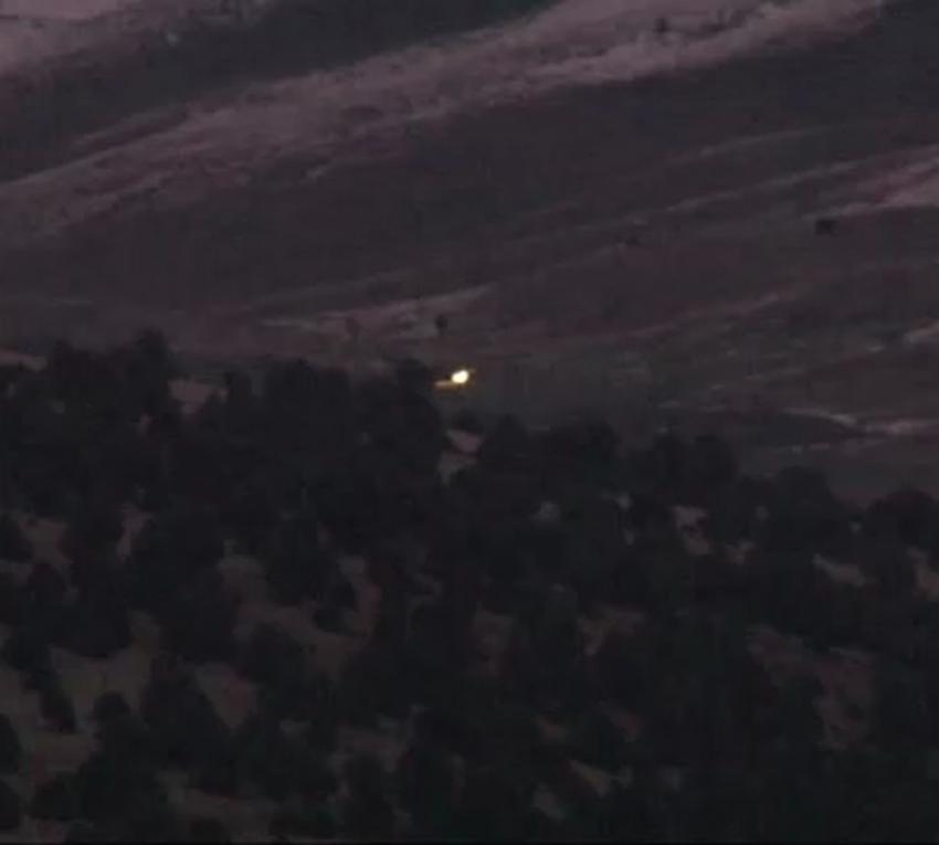 Askeri uçağın düştüğü alan havadan görüntülendi