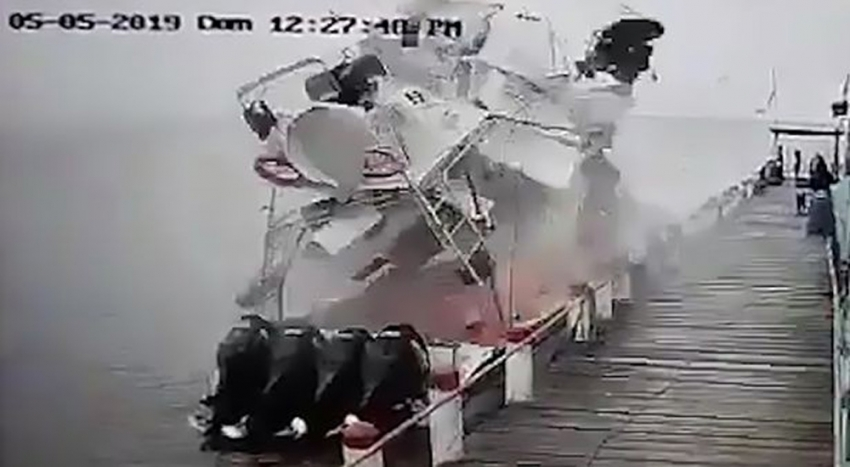 Yakıt tankı yanında kaynak yaptı, lüks tekne havaya uçtu