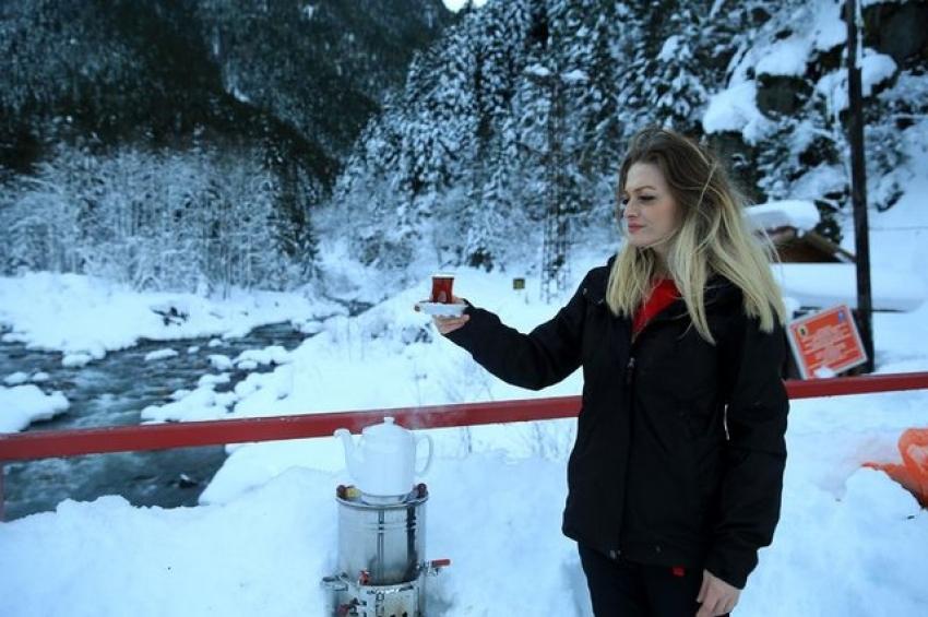Çayı kar suyu ile demleyin!