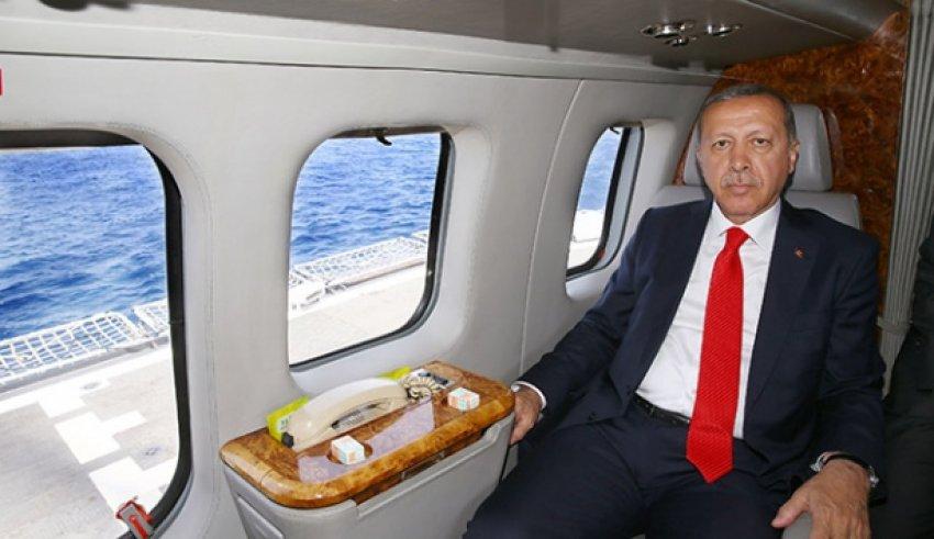 Erdoğan TCG Salihreis Fırkateyni'nde
