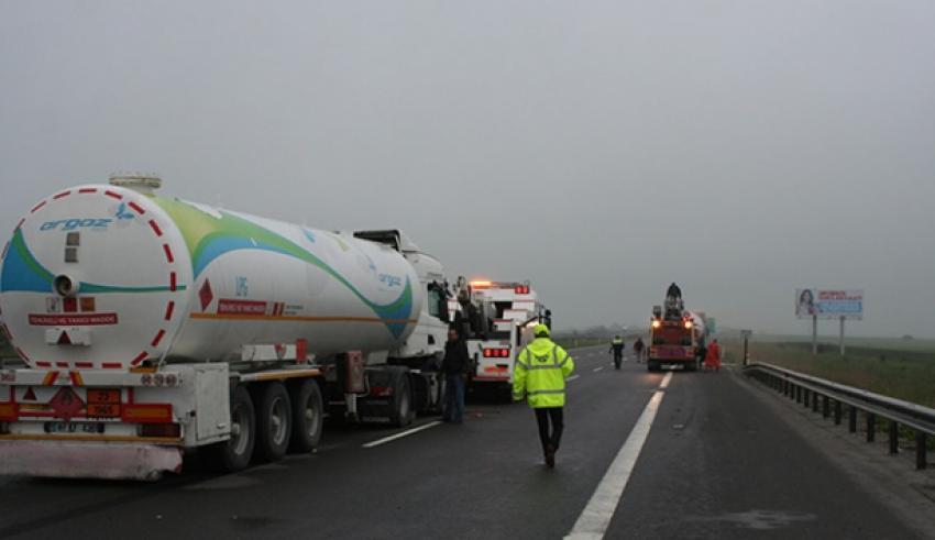İki LPG tankeri çarpıştı