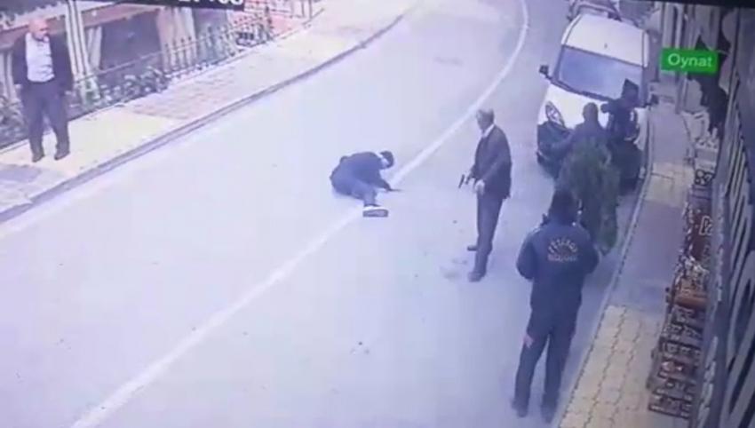 Malatya'da cinayet anı saniye saniye kameraya yansıdı