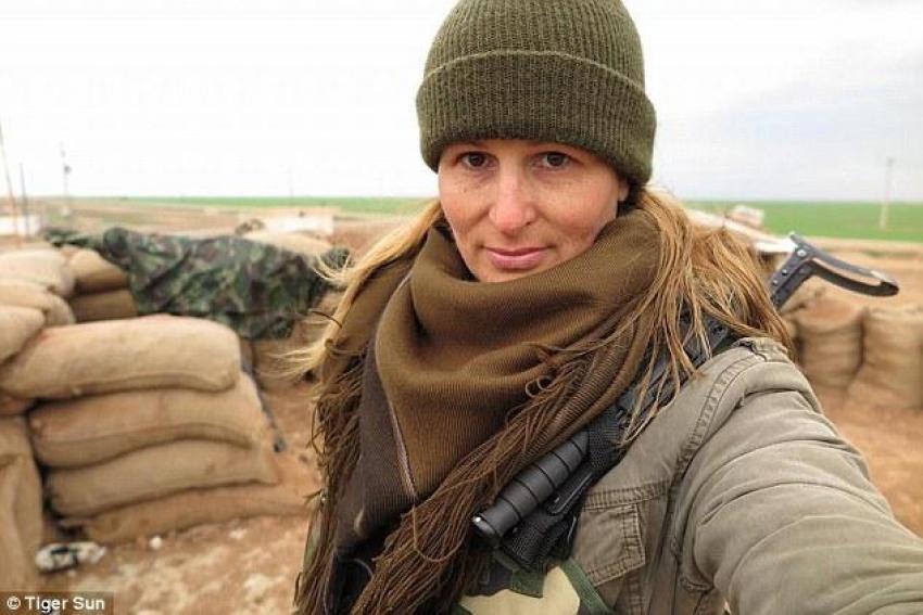 Modelliği bıraktı, IŞİD'e karşı savaşmaya gitti!