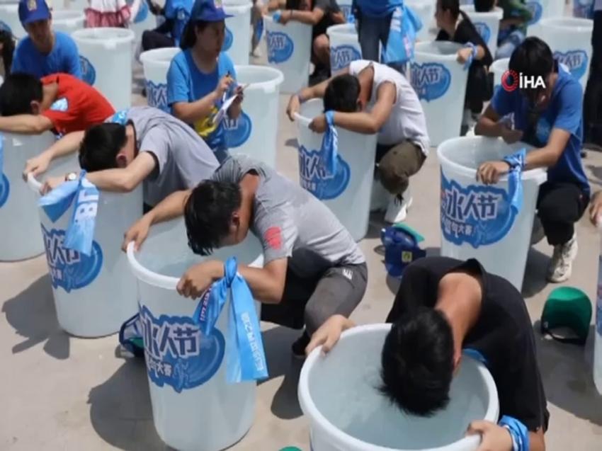 Çin'de nefes tutma yarışması