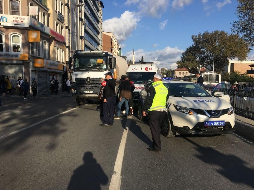Kadınına çarpıp kaçan beton mikseri şoförü yakalandı
