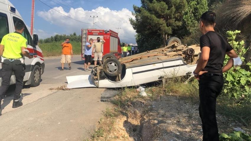 Bursa'da tekerleği kopan araç takla attı: 2 yaralı