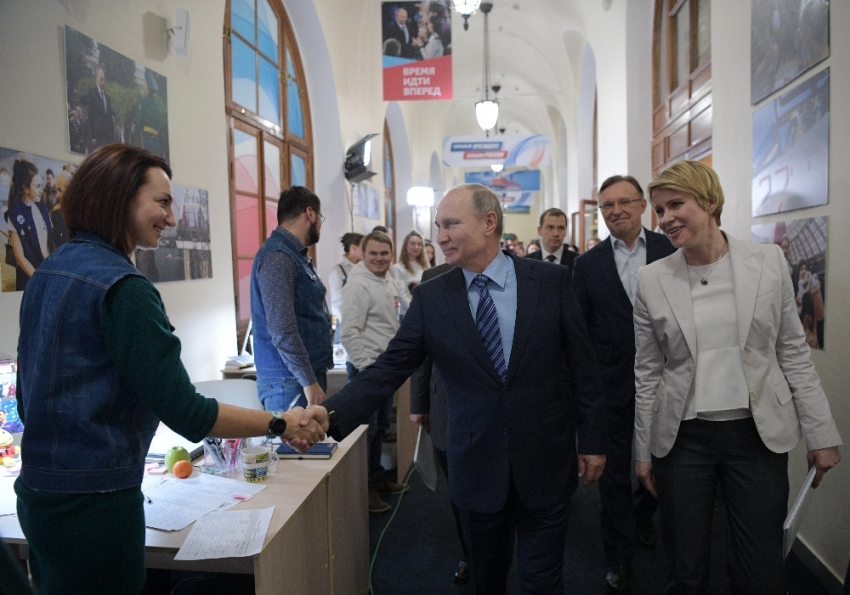 Putin seçim öncesi orayı ziyaret etti