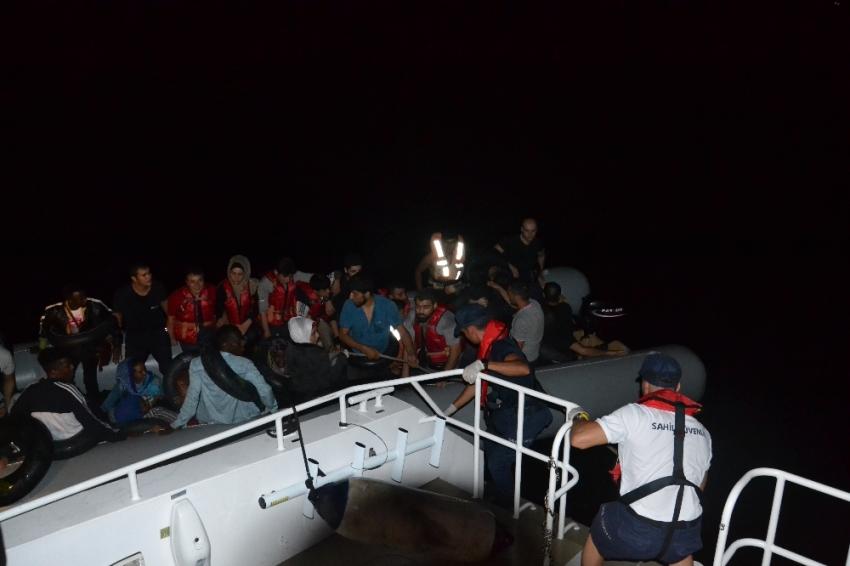 Kuşadası'nda 38 düzensiz göçmen yakalandı
