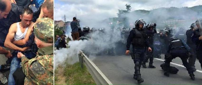 UÇK gazileri ve polis arasında arbede: 20 yaralı