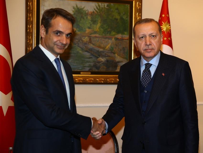 Yunanistan ana muhalefet partisi lideriyle görüştü