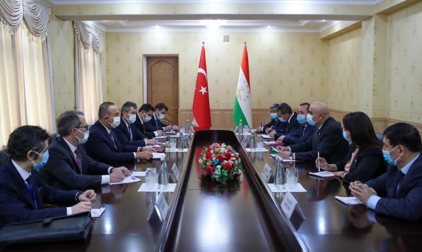 Çavuşoğlu, Tacikistan Temsilciler Meclisi Başkanı Zokirzoda ile görüştü