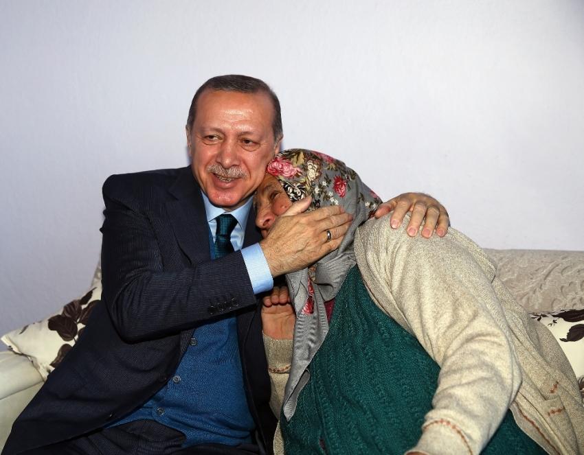Erdoğan, o aileyi ikinci kez ziyaret etti