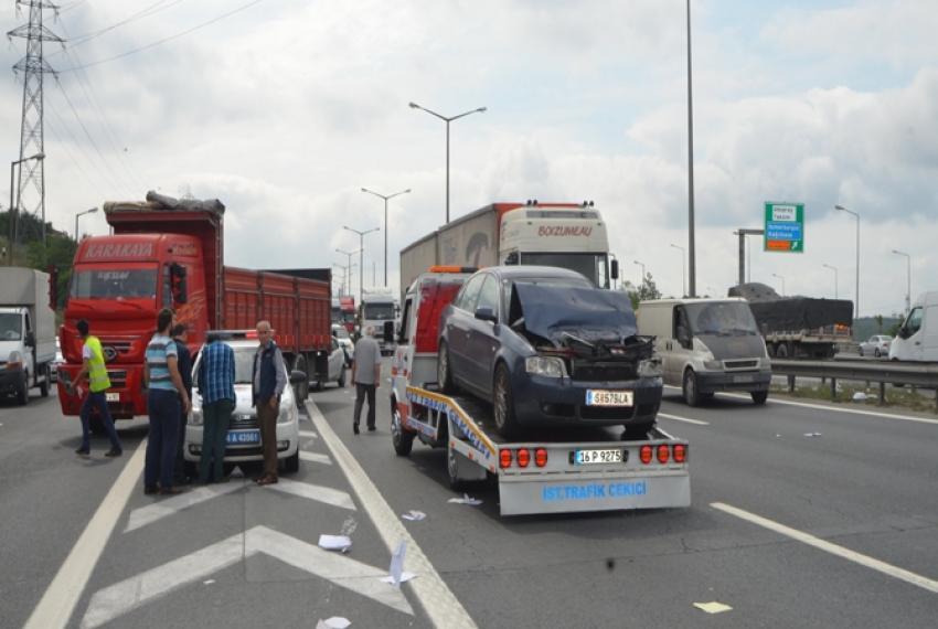 Trafiği felç eden kaza
