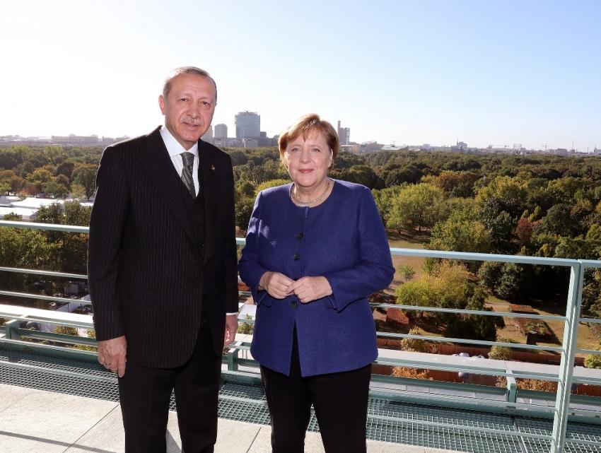 Erdoğan, Merkel'le kahvaltıda bir araya geldi
