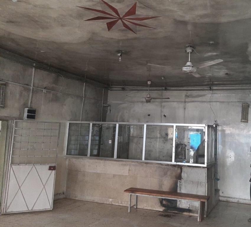 PKK/YPG tarafından Tel Abyad Hastanesi'ndeki malzemeler yakıldı