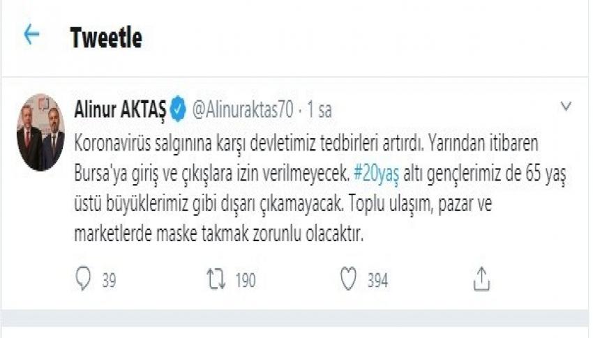 Bursa'da maske takmayanlar toplu ulaşım araçlarına alınmayacak
