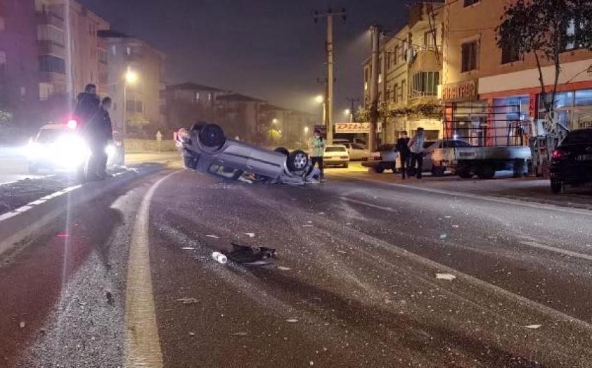 Bursa'da aracıyla 50 metre sürüklendi