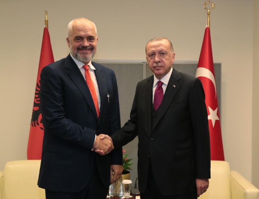 Cumhurbaşkanı Erdoğan, Arnavutluk Başbakanı Rama ile görüştü