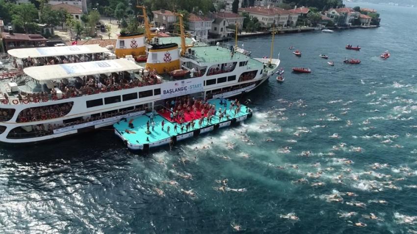 Kıtalar arası yüzme yarışı heyecanı başladı