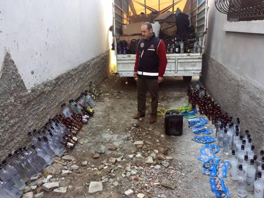 Yılbaşı öncesi sahte içki imalatına baskın
