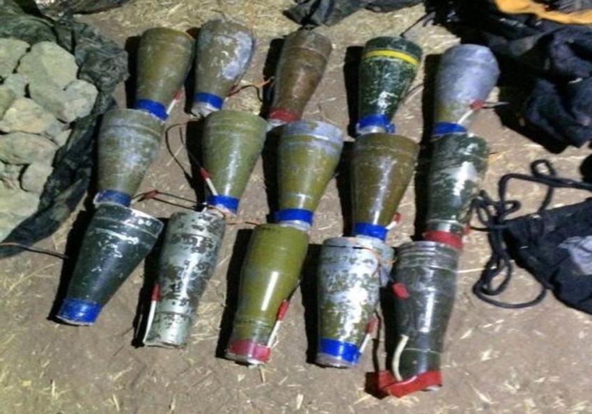 15 adet antitank roket başlığı ele geçirildi