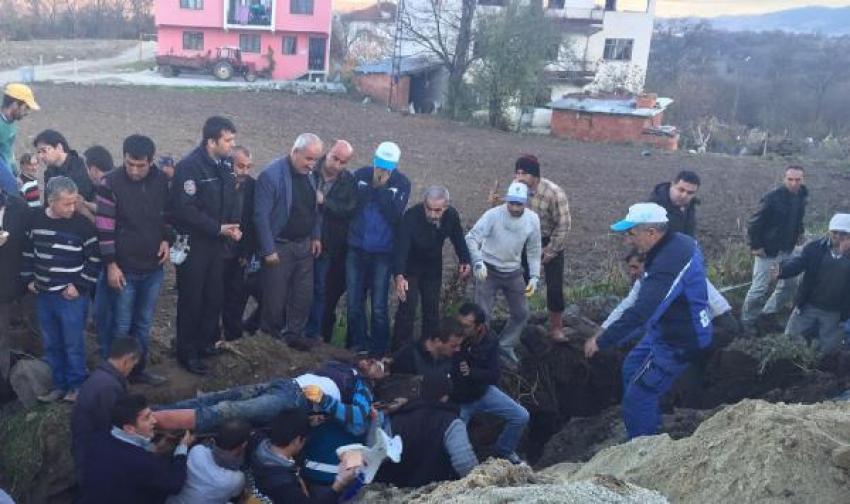 Bursa'da kanalizasyon çalışmasında göçük: 3 işçi yaralandı