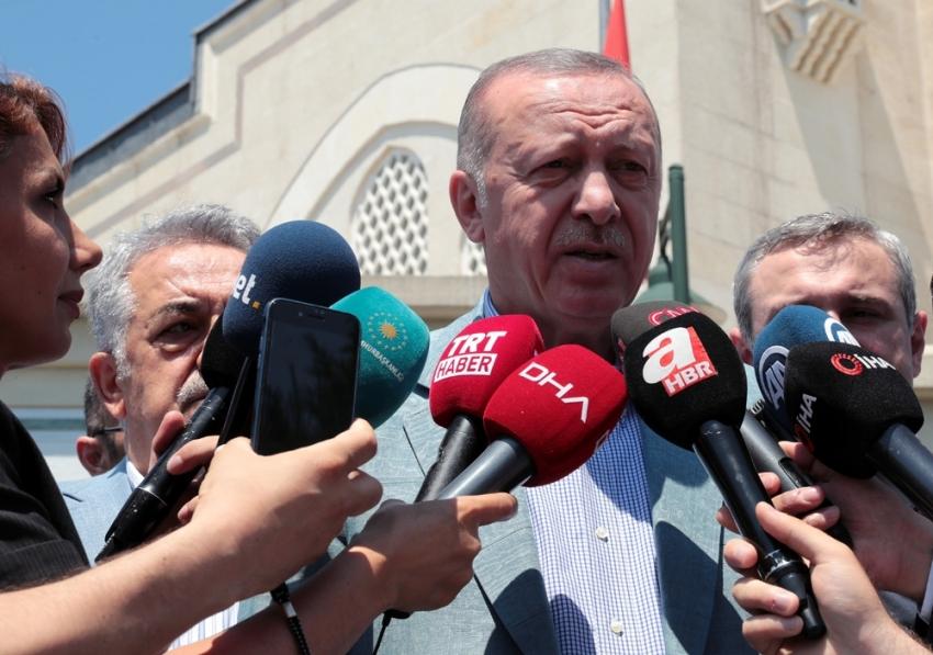 Cumhurbaşkanı Erdoğan: ''Haklarımızı yedirtmeyiz''