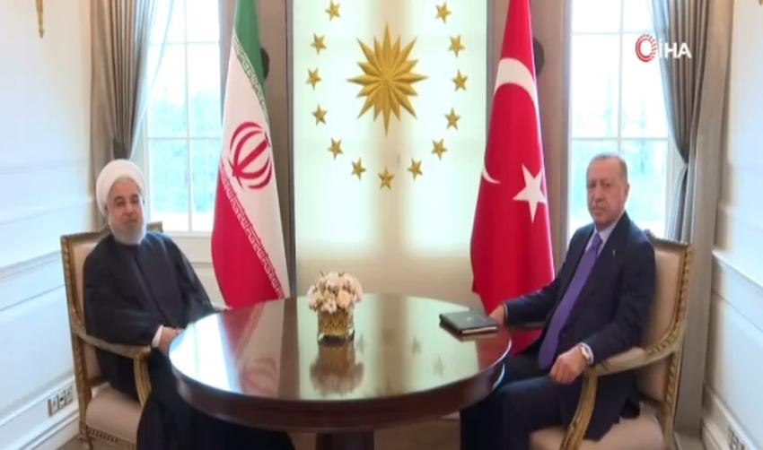 Cumhurbaşkanı Erdoğan, Ruhani'yi Çankaya Köşkü'nde kabul etti