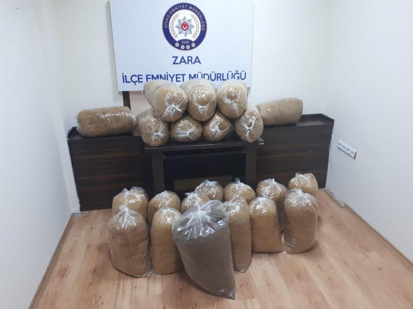 135 kilogram kaçak tütün yakalandı